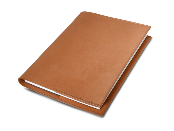 The Notebook: Surplus leather - Cognac - A5
