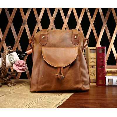 Leather Tote Backpack