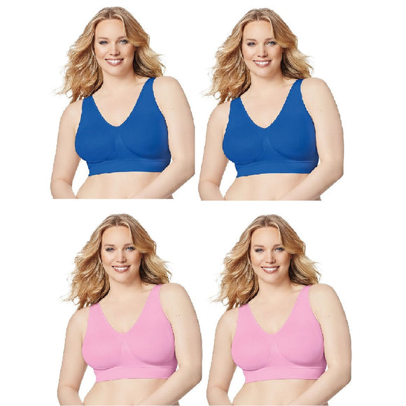 Just My Size 1263 Pure Comfort® Seamless Wirefree 2-Pack Bra w/ Wicking