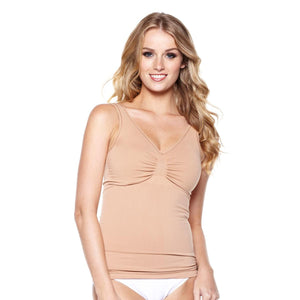 "Rhonda Shear ""Ahh"" Seamless Torso Tank with Removable Pads"