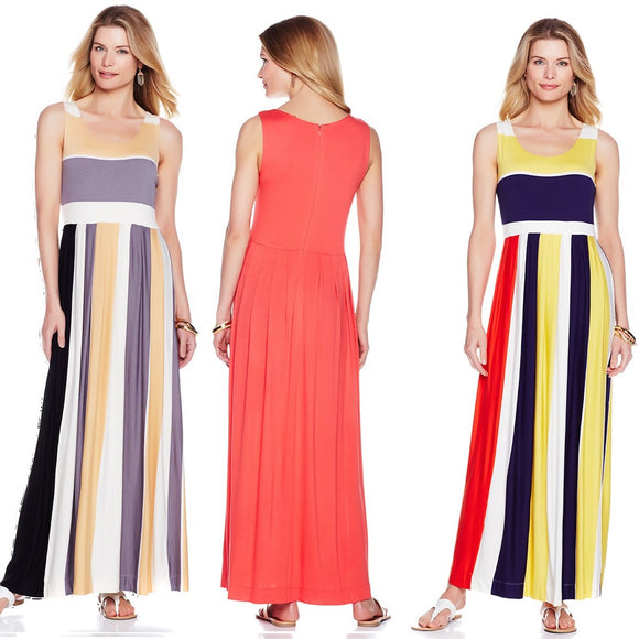 "Hot in Hollywood ""Jilly"" Pleated Maxi Dress"
