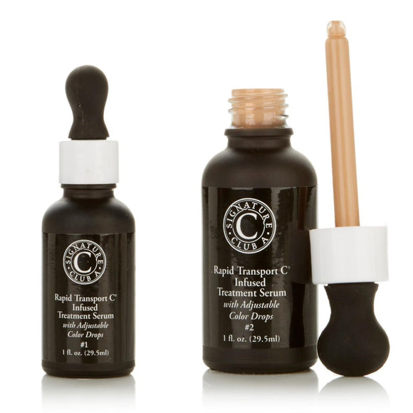 Signature Club A Rapid Transport C Serum with Adjustable Color Drops 1 fl. Oz.