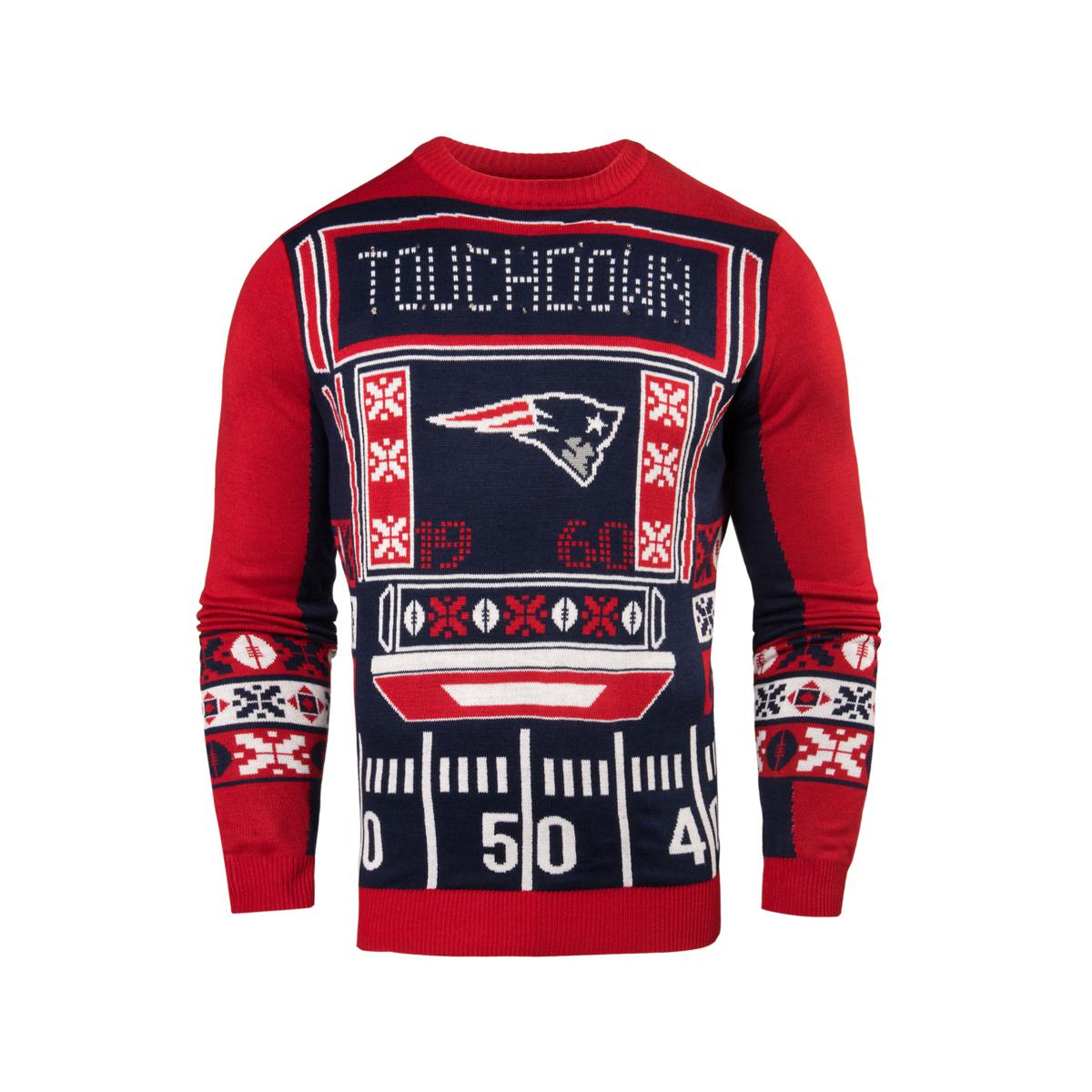 Officially Licensed NFL Light-Up LED Ugly Sweater by Forever ...