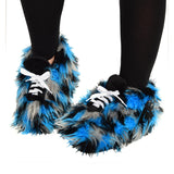 Officially Licensed NFL Plush Fuzzy Sneaker Slippers