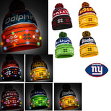 NFL Wordmark Light-Up Beanie by Forever Collectibles