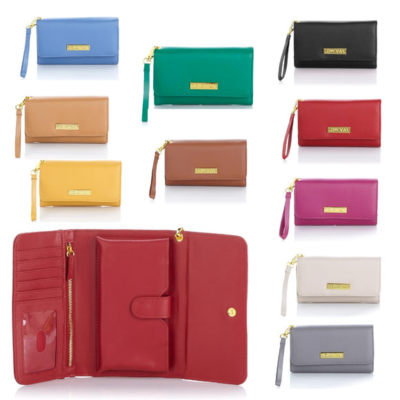 JOY & IMAN Fashion Meets Function Leather Wallet w/RFID
