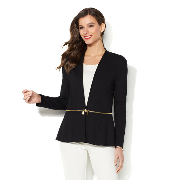 IMAN Global Chic Slip Into Slim Perfect Ponte Blazer