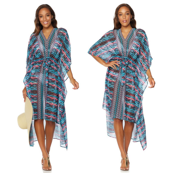 Colleen Lopez Sunny Coast Printed Caftan - XS/S