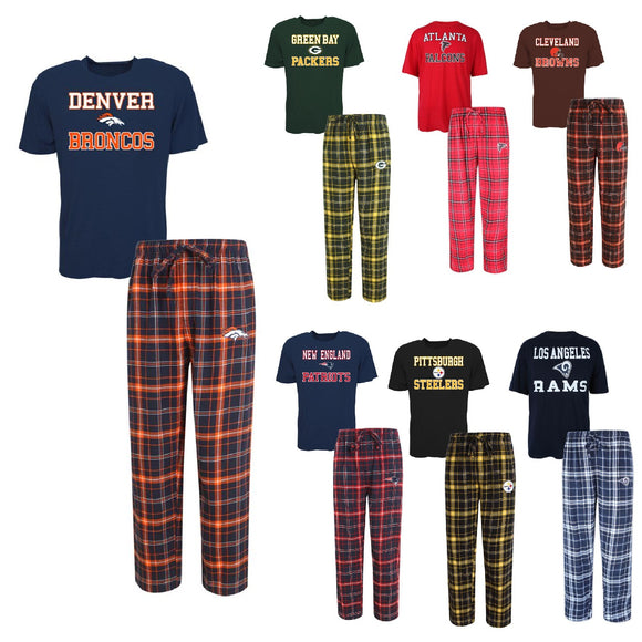 Officially Licensed NFL Men's Halftime Sleepwear Set by Concept Sports