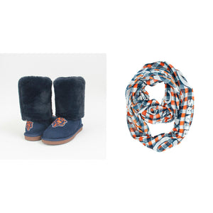 Officially Licensed NFL Cuce Boot and Scarf Combo