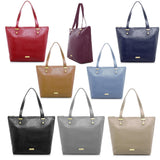 JOY Luxe Leather Lizard-Embossed City Collection Book Tote with RFID