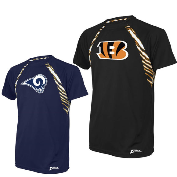 Officially Licensed NFL Men's Raglan Tee by Zubaz - S, M & L