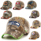 Chicago Bears, Denver Broncos, San Francisco 49ers, Carolina Panthers, Baltimore Ravens, Minnesota Vikings, Pittsburgh Steelers, Seattle Seahawks Camo Hat, hunting, fishing camouflage NFL Cap