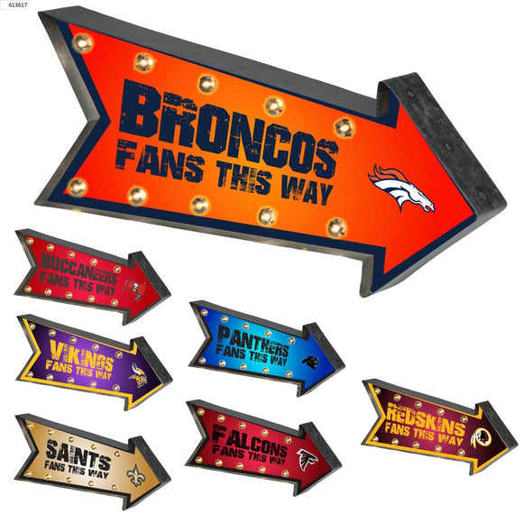Officially Licensed NFL LightUp Arrow Marquee Sign