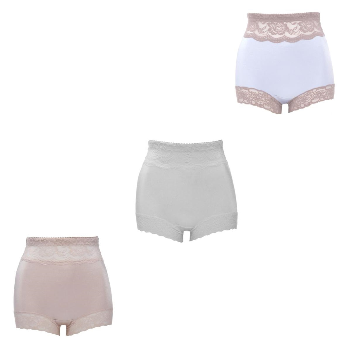 Rhonda Shear 3-Pack Pin Up Boy Short Panty Set Pastels 622401