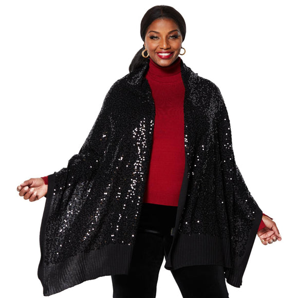 IMAN Global Chic Wrap Yourself in Luxury Sequin Holiday Wrap