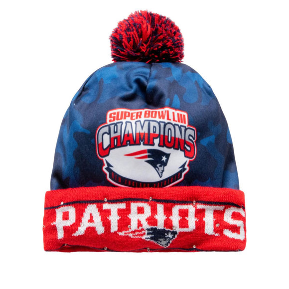 Officially Licensed NFL Super Bowl LIII Champions Light-Up Beanie Patriots