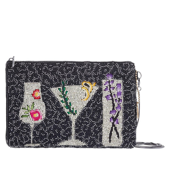 Mary Frances After Hours Beaded Cocktails Crossbody Phone Pouch