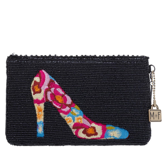 Mary Frances In Step Embroidered Shoe Crossbody Phone