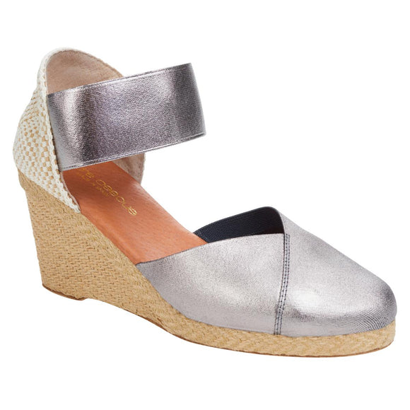 André Assous Anouka Stretch Espadrille Wedge Sandal