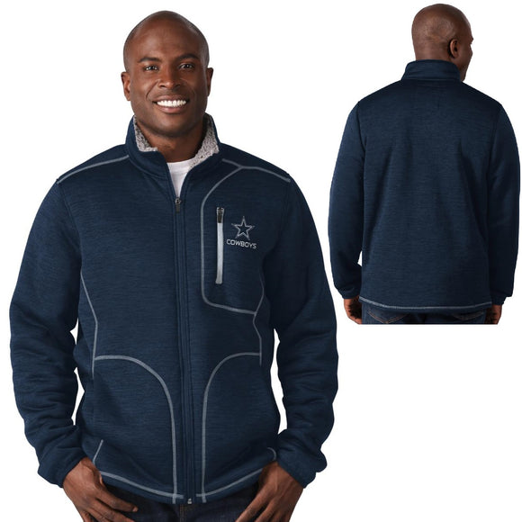 Officially Licensed NFL Transitional Full Zip Jacket by Glll-Dallas Cowboys