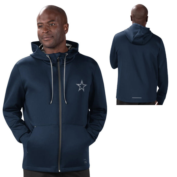 MSX by Michael Strahan NFL Mens Performance Full-Zip Hoodie by Glll-Dallas Cowboys