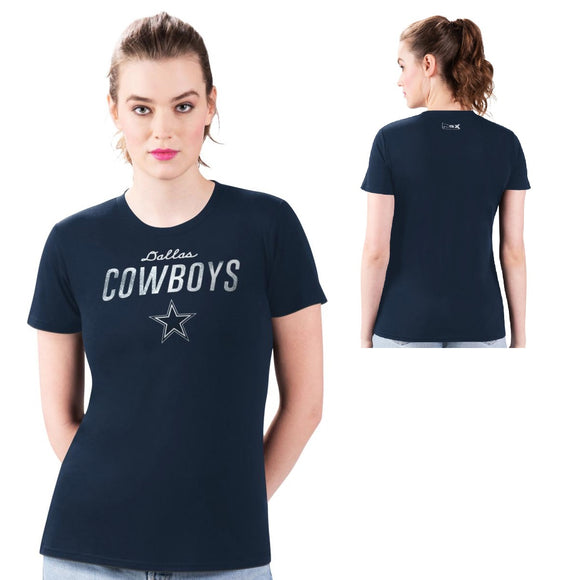 MSX by Michael Strahan Women's NFL Core Crew-Neck Tee by Glll-Dallas Cowboys