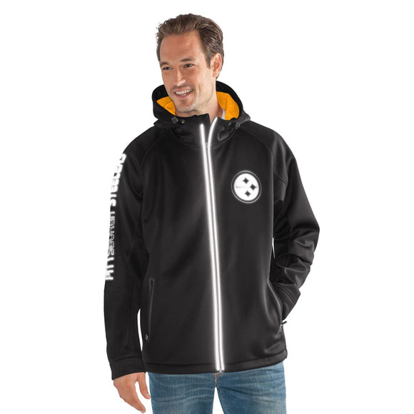 Officially Licensed NFL Motion Hooded Jacket - L, Steelers