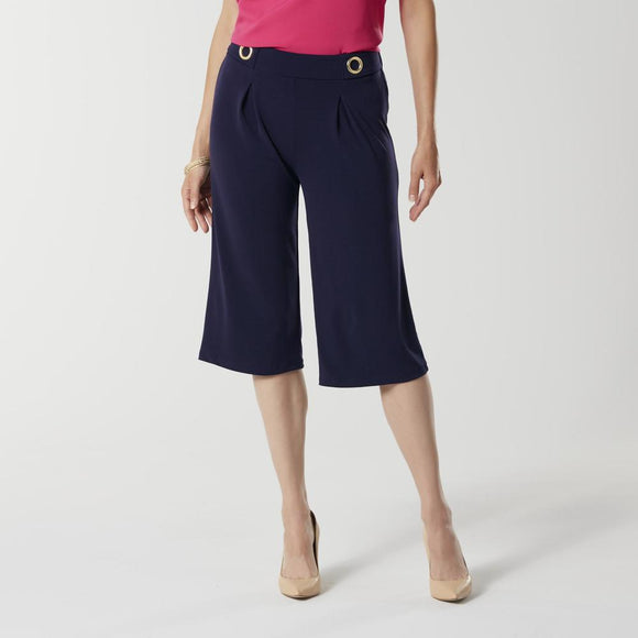 Jaclyn Smith Women's Gaucho Pants - XL, Evening Blue