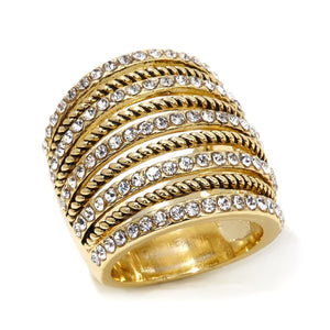 "Real Collectibles by Adrienne® ""The Look of 9 Stacked Rings"" Multirow Ring"