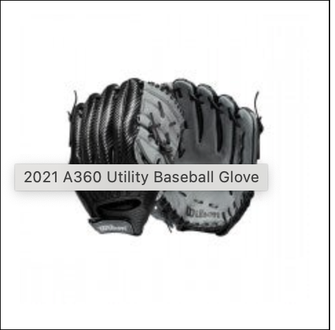 "Wilson A360 12.0""  All position RHT"