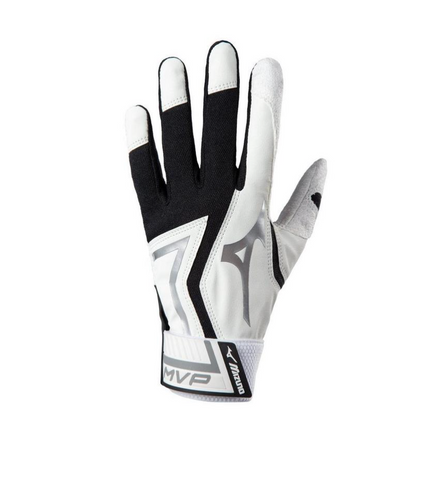 Mizuno MVP batting Gloves (Adult Black))