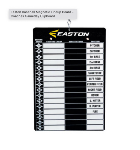 Easton Magnetic Lineup Boards