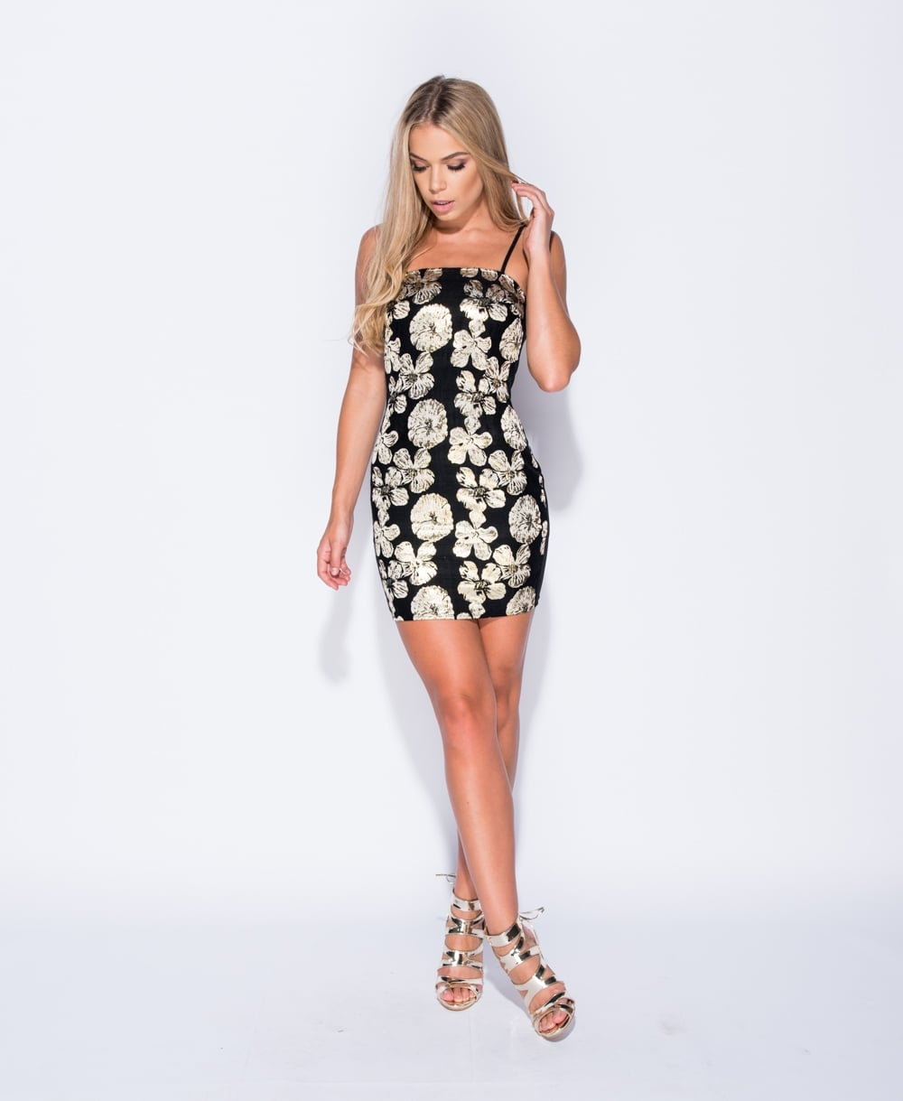 Brocade Bodycon Mini Dress