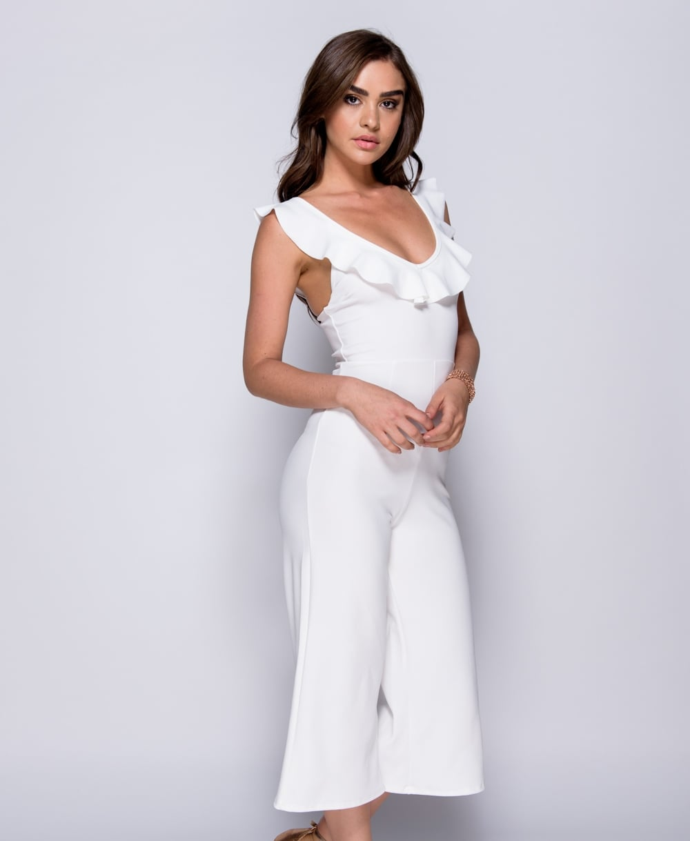 Frill Detail Strappy Jumpsuit