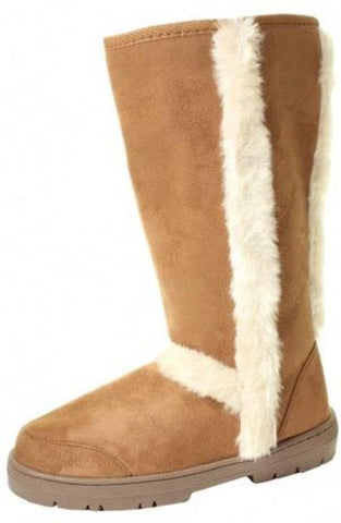 Chestnut Tall Fur Lined Boots