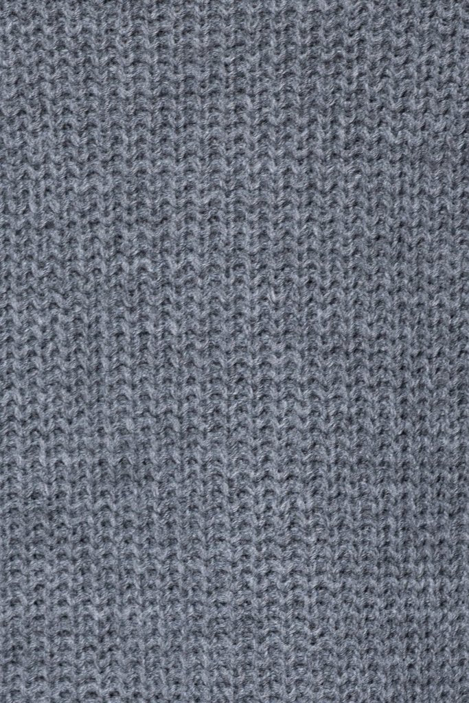 Side Split Pointelle Detail Jumper in Charcoal
