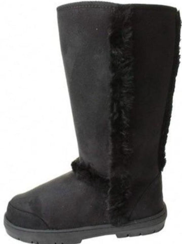Black Tall Fur Lined Boots