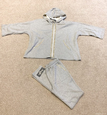 Loungewear Tracksuit in Light Grey