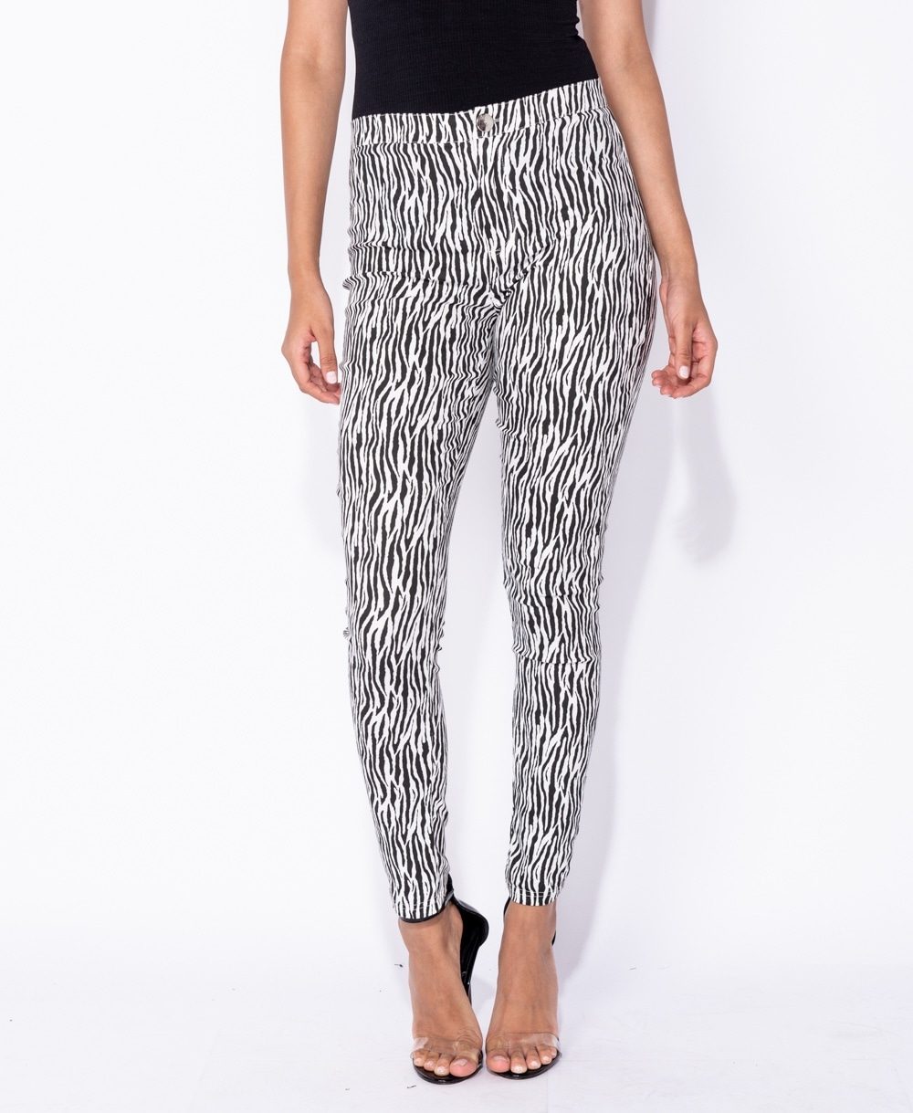 Zebra Print Jeggings