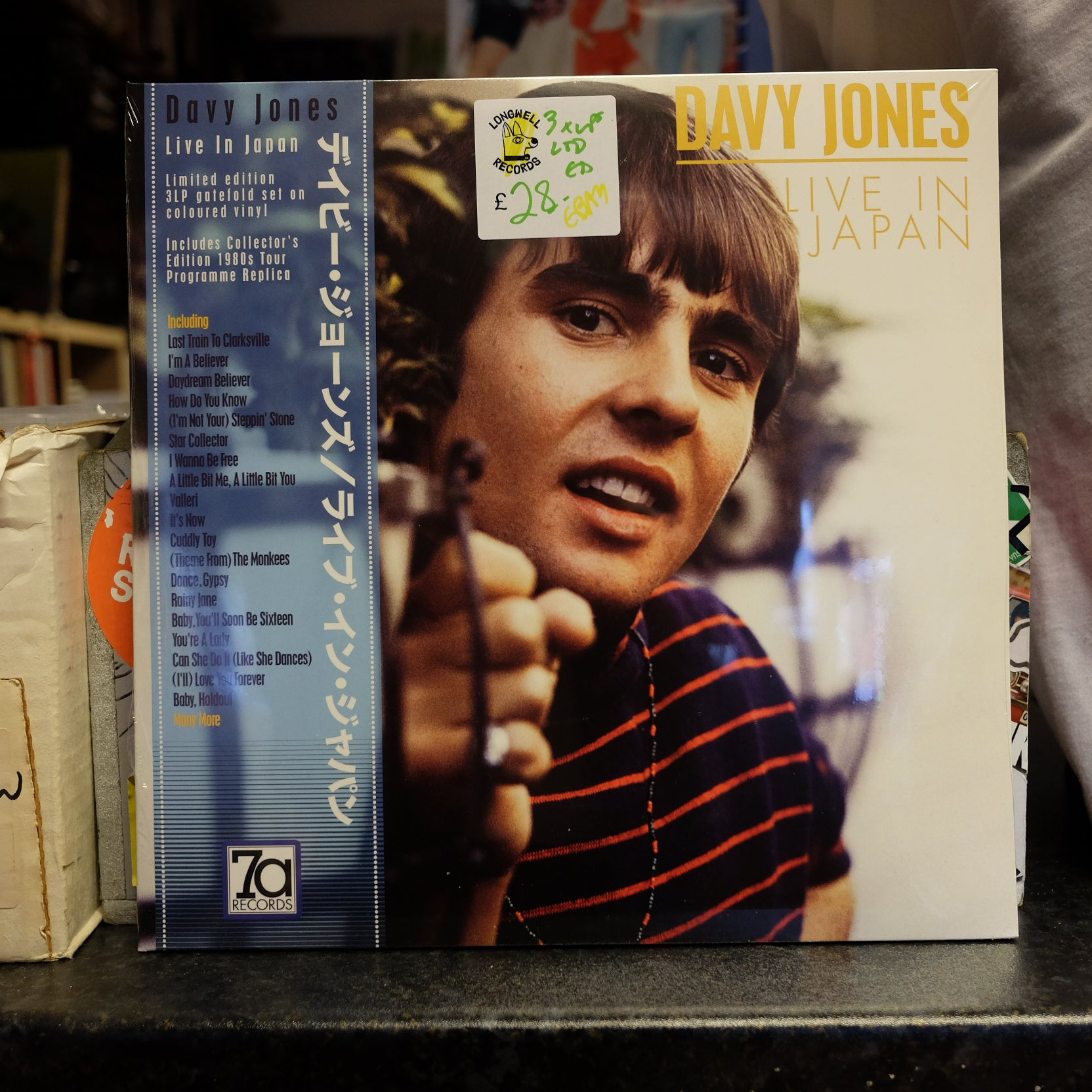 DAVY JONES LIVE IN JAPAN 3 LP RED WHITE BLUE 7A RECORDS NEW VINYL
