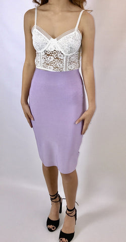 Alison lavender pencil skirt