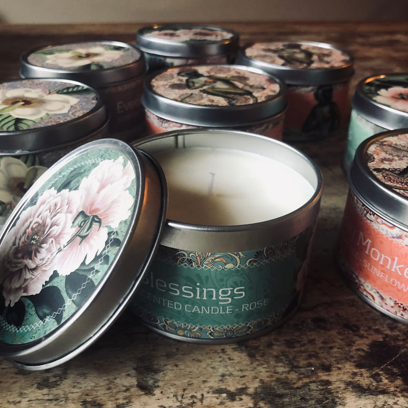 Scented Candle in Tin - Soy Wax