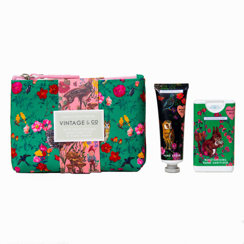 Natalie Lete Forest Folk Cosmetic Pouch (with Hand Cream & Hand Sanitiser)