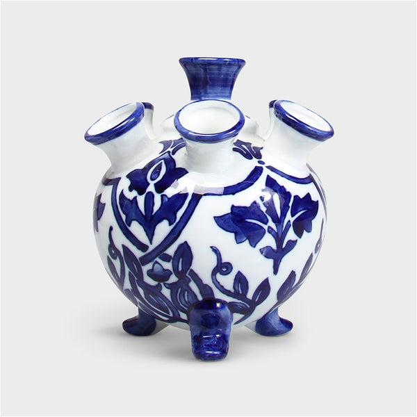 Blue Dutch Style Vase (5 openings)