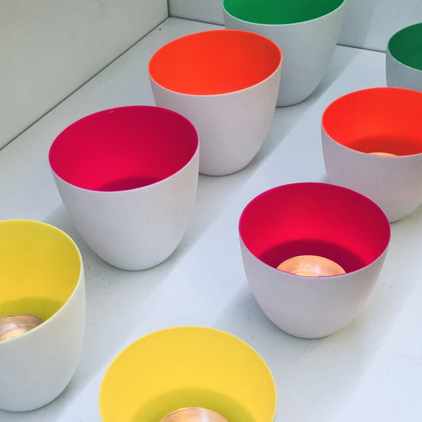 Fluo Porcelain T-Light Holders