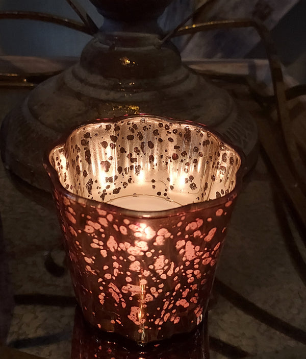 Matt and Shiny Tea Light Holder