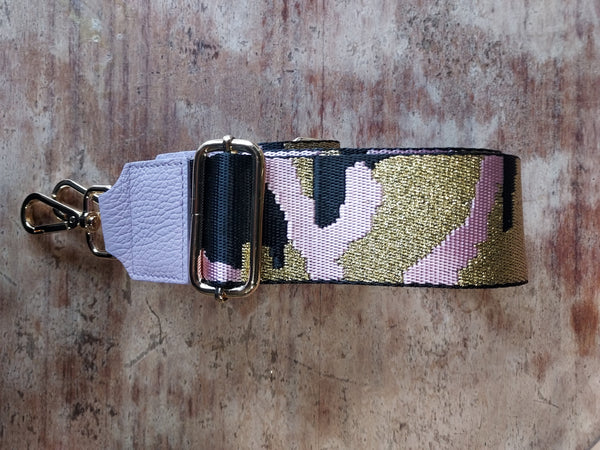 Camo Strap with pink leather
