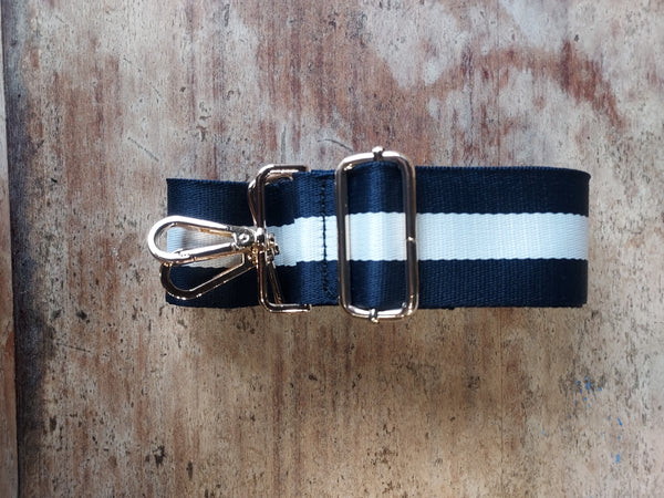 Striped Strap Navy and White