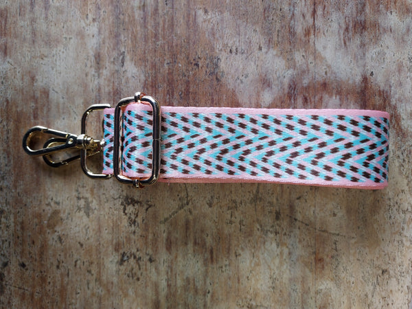 Pink and Blue Chevron Strap